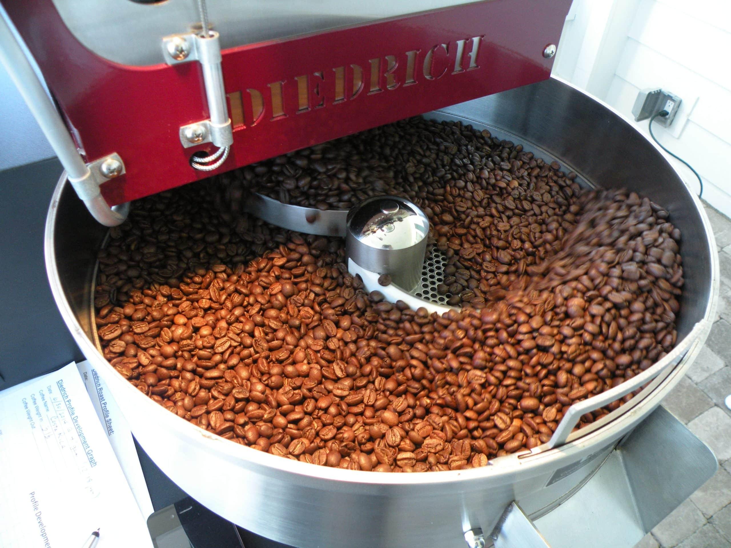 Diedrich coffee roaster at George Washington Inn